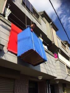 吊り作業のお写真です
