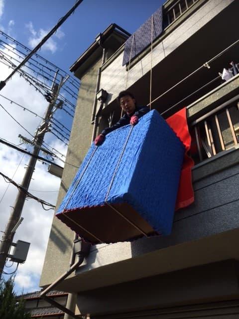 大型家具の処分で吊り作業なら『大阪・関西プロスタッフ』