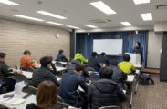 月に一度、社員教育セミナーを行っています。